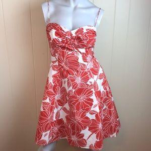Jessica Howard Burnt Orange White Party Dress